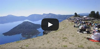 watch a clip of Michael Gordon's Natural History at Crater Lake